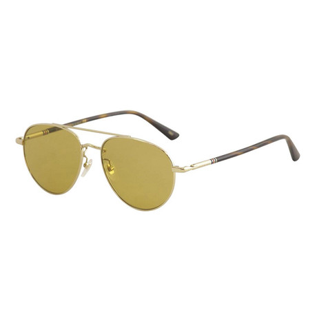 Men's Web Aviator Pilot Sunglasses I // Havana Brown