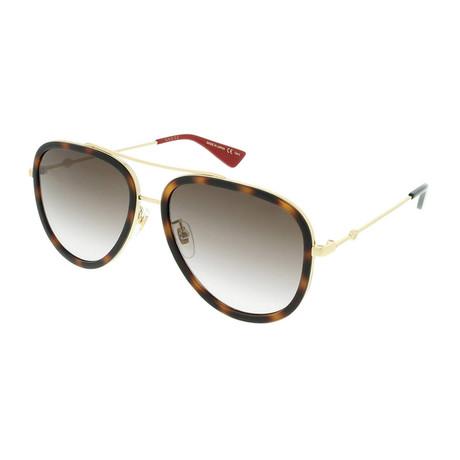 Men's Pilot Aviator Sunglasses // Havana Brown