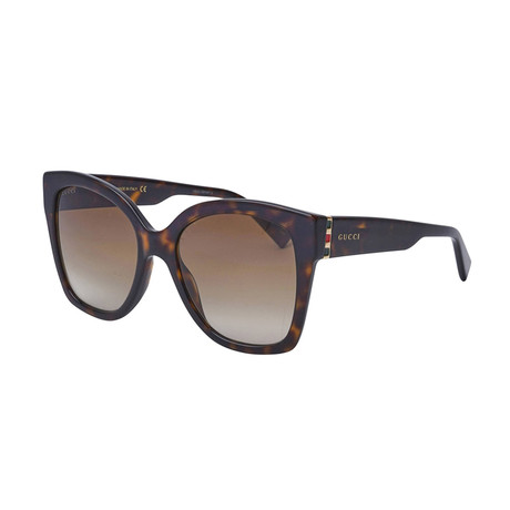 Women's Web Oversized Sunglasses // Brown