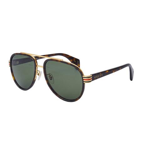 Men's Sylvie & Web Pilot Aviator Sunglasses // Havana Brown