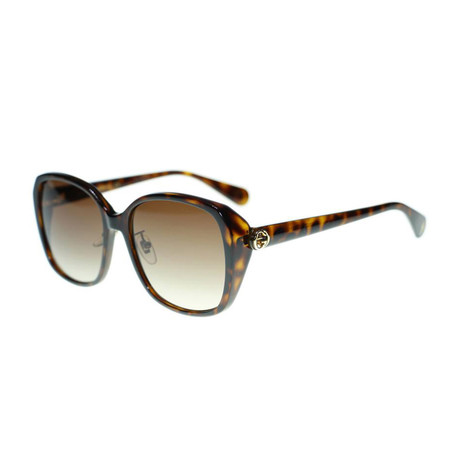 Women's GG Oversized Sunglasses // Brown