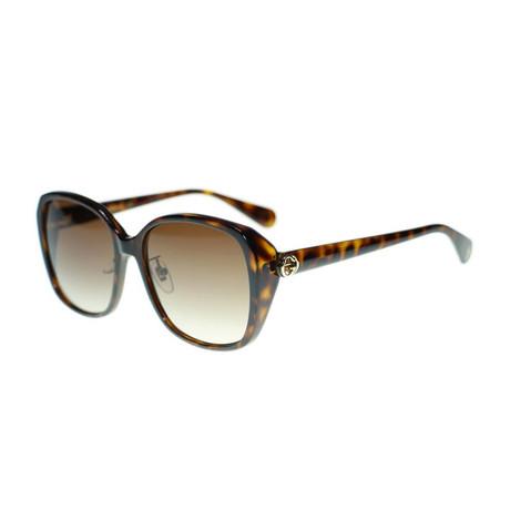 Women's GG Oversized Sunglasses // Brown