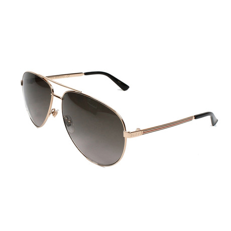 Men's Classic Pilot Aviator Sunglasses // Gold