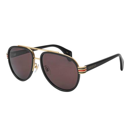Men's Sylvie & Web Pilot Aviator Sunglasses II // Black