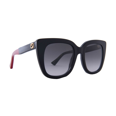 Women's GG Web Oversized Sunglasses // Black