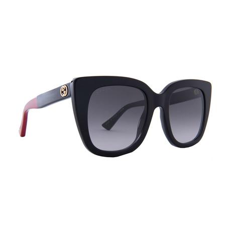 Women's GG Web Oversized Sunglasses // Black
