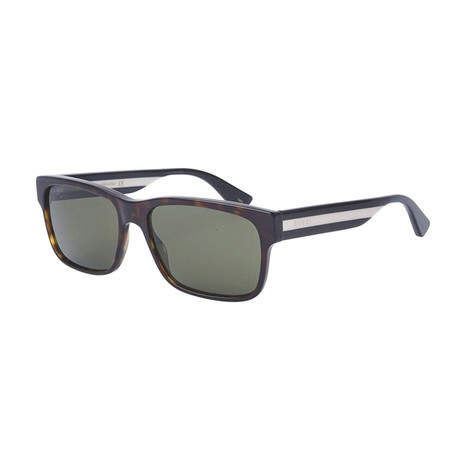 Men's Sylvie + Web Rectangular Sunglasses // Havana Brown