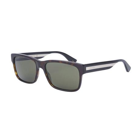 Men's Sylvie & Web Rectangular Sunglasses // Havana Brown