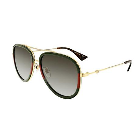 Men's Web Pilot Aviator Sunglasses // Gold