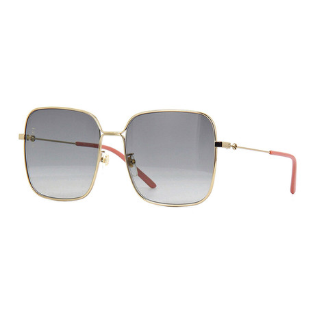 Men's GG Oversized Square Sunglasses // Gold