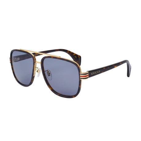 Men's Web Rectangular Sunglasses // Black