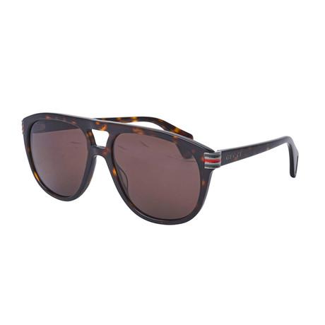 Men's Web Pilot Aviator Sunglasses // Brown