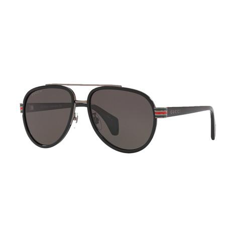 Men's Sylvie & Web Pilot Aviator Sunglasses I // Black