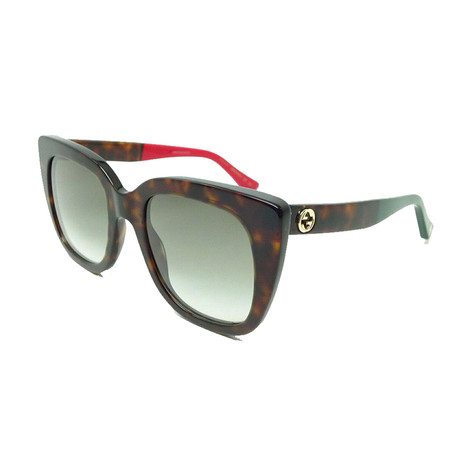 Women's GG Web Oversized Sunglasses // Havana Brown