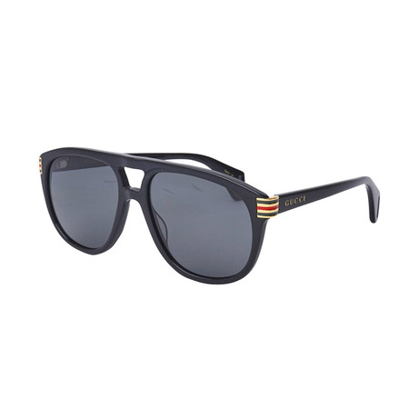 Men's Web Pilot Aviator Sunglasses // Black