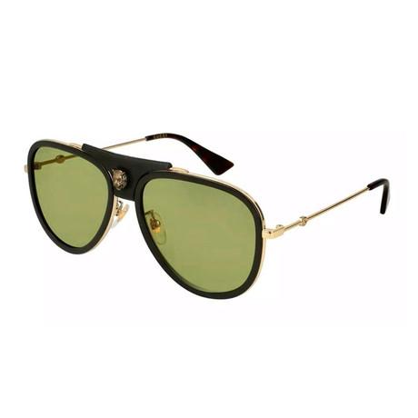 Men's Tiger Pilot Aviator Sunglasses // Brown