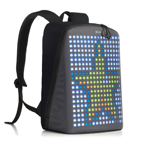 Pix Smart Urban Backpack // Black (Customizable Screen)
