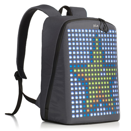 Pix Smart Urban Backpack // Gray (Customizable Screen)