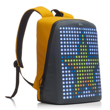 Pix Smart Urban Backpack // Yellow (Customizable Screen)