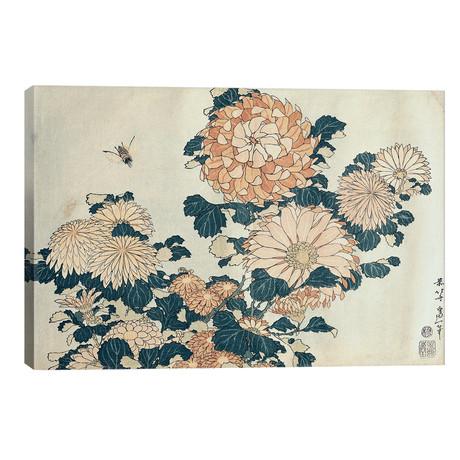 "Chrysanthemums (18""W x 12""H x 0.75""D)"
