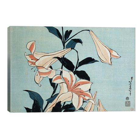 """Trumpet Lilies (18""""W x 12""""H x 0.75""""D)"""