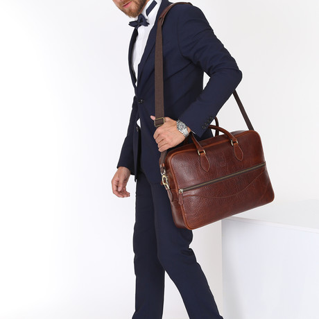 Orion Briefcase // Brown