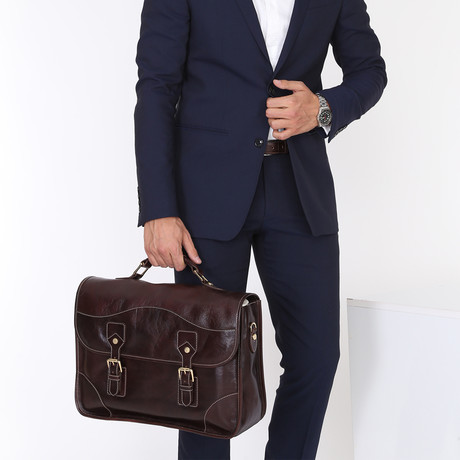 Romano Briefcase // Dark Brown