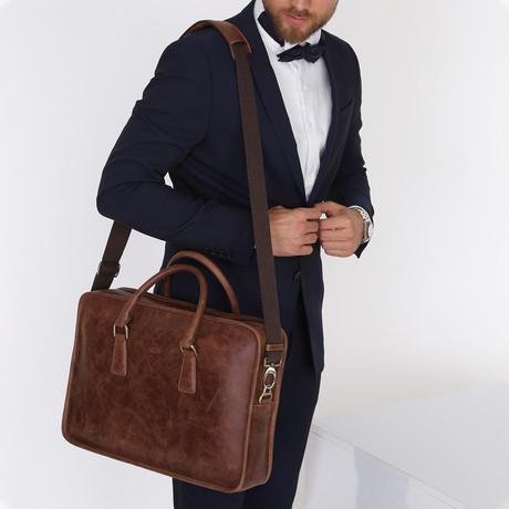 Forte Briefcase Bag // Brown