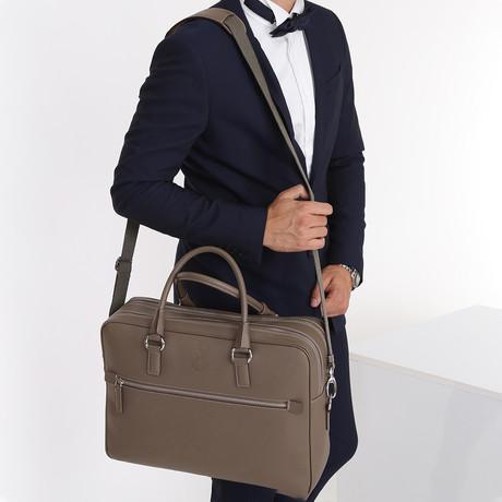Lucca Briefcase // Beige