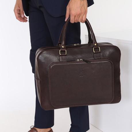 Carlo Briefcase // Dark Brown