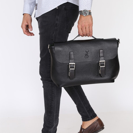 Adamo Briefcase // Black