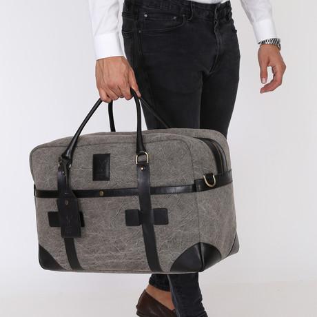 Perla Gray Travel Tote Bag // Grey