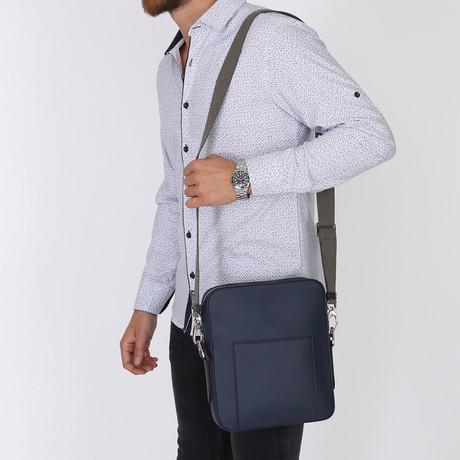 Artus Blue Messenger Bag // Blue