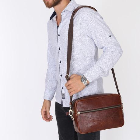 Bomonti Messenger Bag // Brown