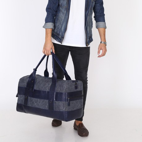 Mıka Blue Travel Tote Bag // Blue