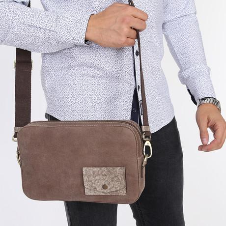 Excellent Messenger Bag // Brown-Beige