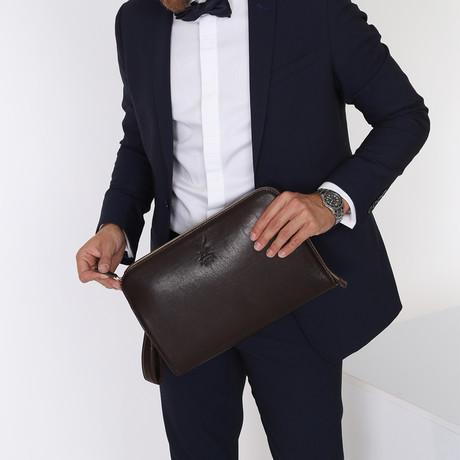 Portfolio Handbag // Dark Brown