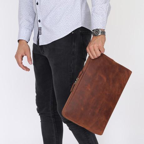 Maxbook Handbag // Brown