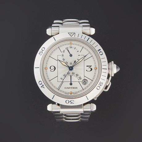 Cartier Pasha GMT Automatic // W31037H3 // Pre-Owned