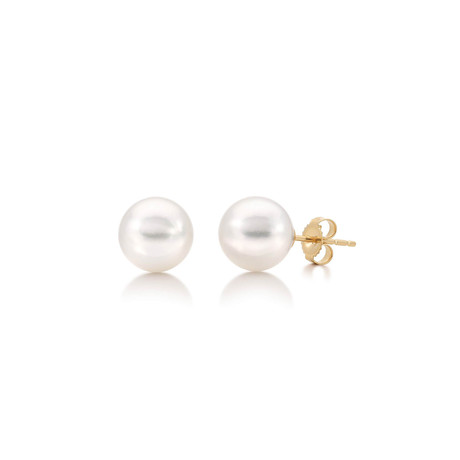 Akoya Pearl Earrings // 8.5-9.0mm AA+ (14K White Gold)
