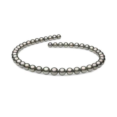 "18"" Round Tahitian Pearl Necklace // 8.0-10.7mm AAA (14K White Gold Clasp)"