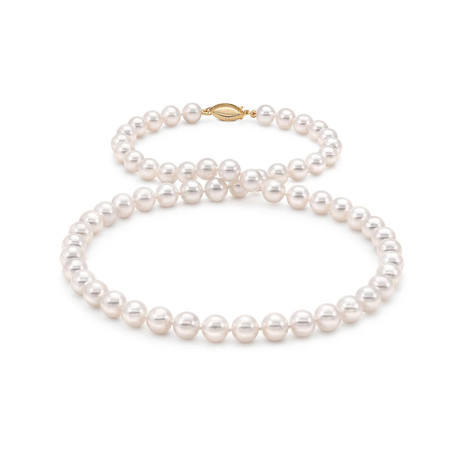 "18"" Akoya Pearl Necklace // 6.5-7.0mm AA+ (14K White Gold Clasp)"