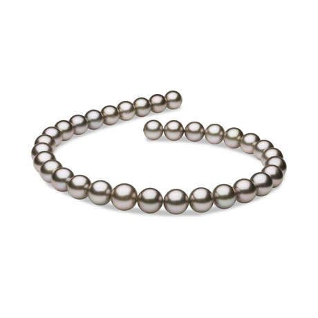 "18"" Round Tahitian Pearl Necklace // 11.0-12.8mm AAA (14K White Gold Clasp)"