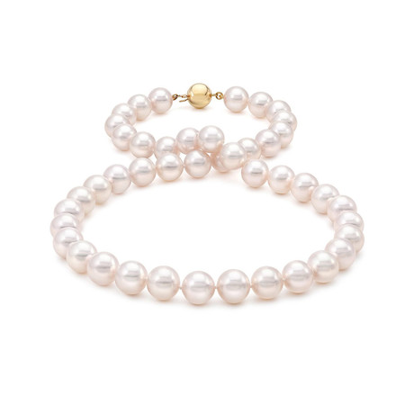"18"" Akoya Pearl Necklace // 9.0-9.5mm AA+ (14K White Gold Clasp)"