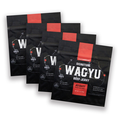 Greg Norman Signature Wagyu Jerky // Mesquite // Pack of 4