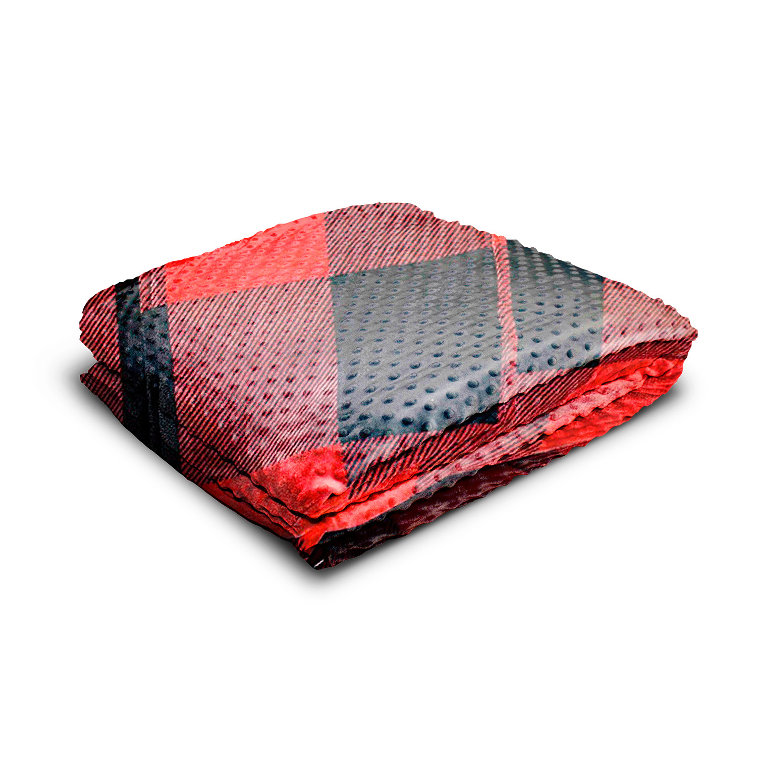 Weighted Blanket Minky Bamboo Cover Red Black