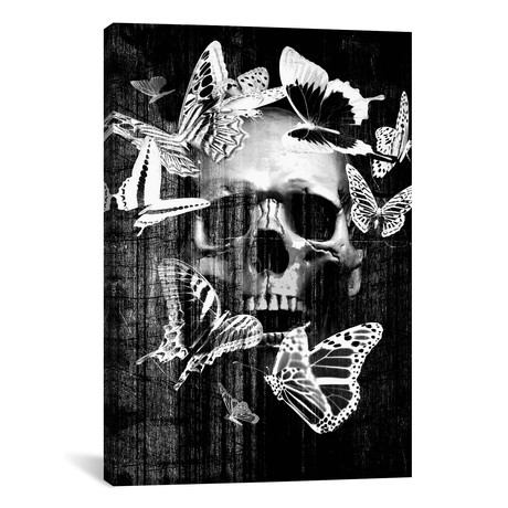 """Skull Butterfly Crown // GraphINC (12""""W x 18""""H x 0.75""""D)"""