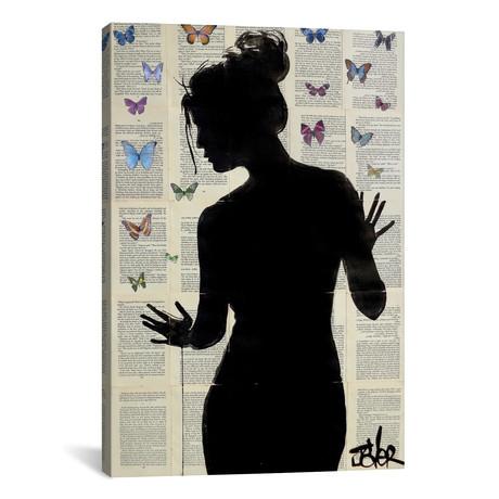 """Butterfly Effect // Loui Jover (12""""W x 18""""H x 0.75""""D)"""