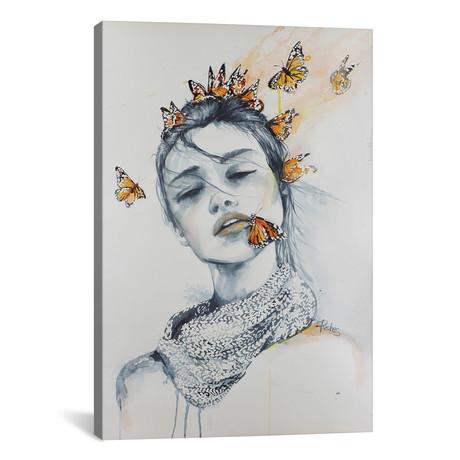 """Butterfly Kisses // Sara Riches (12""""W x 18""""H x 0.75""""D)"""
