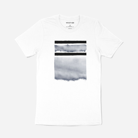 Geo Watercolor Graphic T-Shirt // White (S)